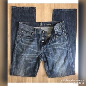 7 for all mankind standard jeans 30x33